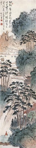溥儒(1896-1963)策杖青山图 - 1518 - 中国书画(二) - 2007秋季艺术品拍卖会 -收藏网