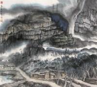 胜境山村 镜片 设色纸本 -  - 中国书画 - 2011年春季拍卖会(329期) -收藏网