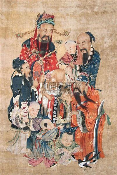 佚名 天宫赐福 -  - 中国书画专场 - 2009春季拍卖会 -收藏网
