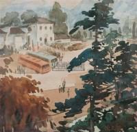 风景 纸面  水彩 - 倪贻德 - 中国油画 - 2005秋季艺术品拍卖会 -收藏网
