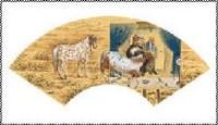 金沙 消失-马宴之拆 扇面 - 金沙 - 中国书画 - 2007年秋季艺术品拍卖会 -收藏网