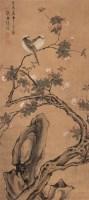 花鸟寿石 立轴 设色绢本 - 陆逵 - 中国书画 - 2007年春中国书画拍卖会 -收藏网