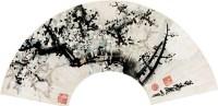 梅花 镜心 扇面 纸本 - 116639 - 中国书画(一) - 2011首届秋季艺术品拍卖会 -收藏网