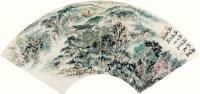 雁荡秋色 镜片 扇面 纸本 - 116006 - 中国书画(一) - 2011首届秋季艺术品拍卖会 -收藏网