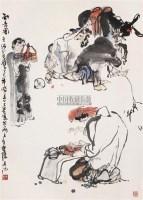 知音图 立轴 设色纸本 - 施大畏 - 中国当代书画 - 2006春季大型艺术品拍卖会 -收藏网