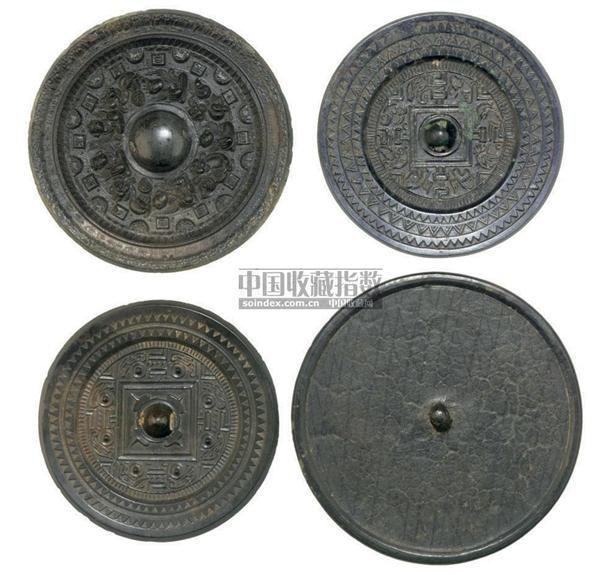 FOUR BRONZE MIRRORS,HAN DYNASTY OR LATER (206BC-220AD) -  - 中国进出口瓷器 - 2009秋季拍卖会(二) -收藏网