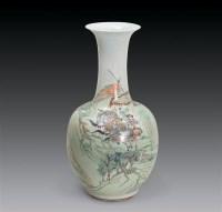 清光绪 浅降山水人物瓶 -  - 瓷器古董珍品 - 2006首届慈善拍卖会 -收藏网