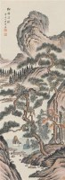 松阴清谈 立轴 设色纸本 - 18322 - 名家书画精品专场 - 2011年春拍艺术品拍卖会 -中国收藏网