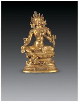 铜鎏金绿度母像 -  - 佛像唐卡 - 2007春季艺术品拍卖会 -收藏网