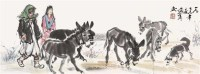 牧驴图 镜片 纸本 - 7693 - 书画专场 - 2011年初冬书画精品拍卖会 -收藏网