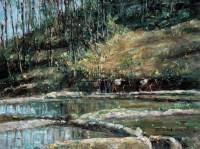 风景 布面  油画 - 141117 - 油画 版画 - 2006秋季艺术品拍卖会 -收藏网