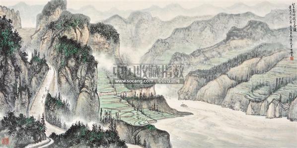 望高俯视写西陵 镜心 纸本设色 - 118211 - 中国书画(一) - 2011春季艺术品拍卖会 -收藏网