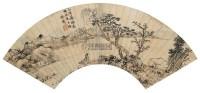 柳下孤舟 扇面 设色笺本 - 116915 - 书藏楼古代书画专场 - 首届大型中国书画拍卖会 -收藏网