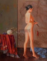 秋声 布面 油画 - 高虹 - 中国油画 - 2006秋季艺术品拍卖会 -收藏网