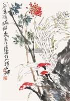花卉 镜片 设色纸本 - 119608 - 书画专场 - 2011年夏季艺术品拍卖会 -收藏网