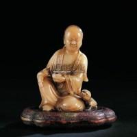 清康熙   芙蓉石持钵罗汉像 -  - 古董珍玩日场 - 2009春季拍卖会 -收藏网