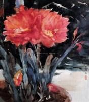 令箭荷花 纸本 水彩 - 乌密风 - 中国油画 - 2006夏季艺术品拍卖会 -收藏网