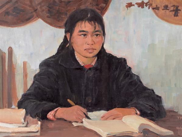 罗工柳 女支书 油画 - 2434 - 油画专场 - 2006首届艺术品拍卖会 -收藏网