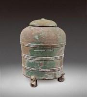 绿釉三兽足陶仓 -  - 瓷器 - 2011中博香港大型艺术品拍卖会 -收藏网