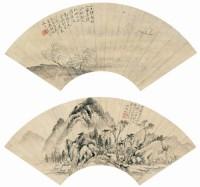 吴湖帆(1894-1968)、吴观岱(1862-1929)山水双挖 -  - 中国书画(一) - 2007秋季艺术品拍卖会 -收藏网