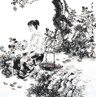 山里红 镜心 设色纸本 - 670 - 当代书画名家精品专场 - 2008春季拍卖会 -收藏网