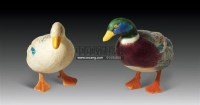 彩绘象牙鸳鸯件 (一对) -  - 古器风韵专场 - 苏州2011春季艺术品拍卖会 -收藏网