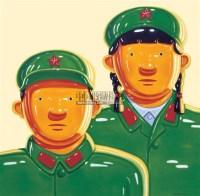 军人家庭 布面 油画 - 沈敬东 - 中国新锐艺术专场 - 2008春季拍卖会 -收藏网