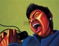 《摇滚狂潮》小李哥 布面 油画 - 罗丹 - 中国油画雕塑 - 2006秋季艺术品拍卖会 -收藏网