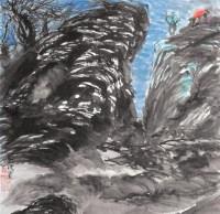 山水 立轴 设色纸本 - 6061 - 书画杂件 - 2007迎春文物艺术品拍卖会 -收藏网