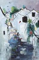 江南水乡 油画 镜框 - 115966 - 书画杂件 - 2007迎春文物艺术品拍卖会 -收藏网