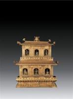 铜鎏金双塔座六目佛龛(六尊铜鎏金佛) -  - 卧松斋藏传佛教珍品专题 - 2007春季拍卖会 -中国收藏网