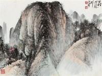 隐寺图 镜片 - 刘昌潮 - 中国书画 - 壬辰迎春 -收藏网