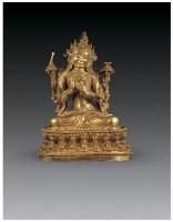 铜鎏金文殊菩萨像 -  - 佛像唐卡 - 2007春季艺术品拍卖会 -收藏网