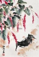 红萼花蟹儿肥 立轴 设色纸本 - 1004 - 中国书画一 - 2012年迎春拍卖会 -收藏网