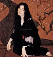 醉 纸本 石版版画(限量版) - 靳尚谊 - 中国油画 雕塑影像 - 2006广州冬季拍卖会 -中国收藏网
