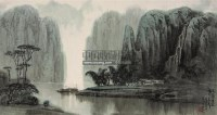 深山闻泉声 镜心 设色纸本 - 朱同 - 中国当代书画 - 2008春季拍卖会 -中国收藏网