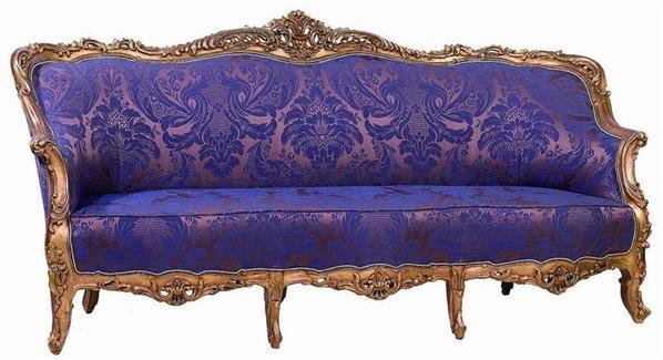西洋三人沙发椅 -  - 明清家具文房小件专场 - 首届明清家具文房小件拍卖会 -收藏网