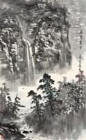 飞流直下 轴 - 4706 - 中国书画 - 2011年春季艺术品拍卖会 -收藏网
