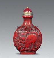 剔红花鸟鼻烟壶 -  - 艺术品 - 2011年春季拍卖会(329期) -收藏网