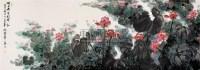 映日荷花别样红 镜心 设色纸本 - 沈威峰 - 中国当代名家书画 - 2008春季拍卖会 -收藏网