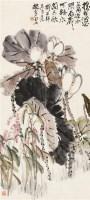 荷花 立轴 设色纸本 - 133217 - 海外华人藏近现代书画专场 - 2011秋季拍卖会 -中国收藏网