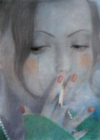 张霜 2005年作 开始想念你 色粉 - 20852 - 四川画派(油画) - 2006秋季拍卖会 -收藏网