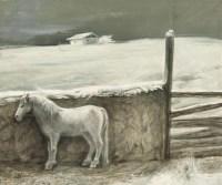 雪和白马 布面油画 - 155823 - 油画专场 - 2011首届秋季艺术品拍卖会 -收藏网