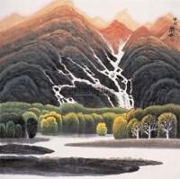 山水 镜心 设色纸本 - 许钦松 - 中国书画(二) 瓷杂 - 四季拍卖会(第62期) -收藏网