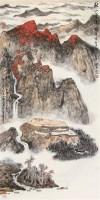 秋山云涌图 立轴 设色纸本 -  - 书画杂件 - 2007迎春文物艺术品拍卖会 -收藏网