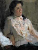 人物 布面  油画 - 140640 - 油画 版画 - 2006秋季艺术品拍卖会 -中国收藏网