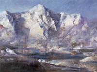刘戈 叁山 亚麻布 - 刘戈 - 中国书画油画 - 2006秋季艺术品拍卖会 -收藏网