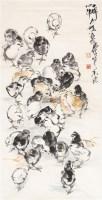 鸡仔 立轴 纸本 - 7693 - 炎黄画有心—黄冑专场 - 第八期民间收藏书画拍卖会 -收藏网