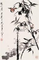 竹雀图 立轴 设色纸本 - 117343 - 中国书画(二) - 2006年秋季拍卖会 -收藏网