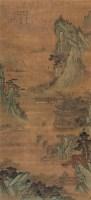 山水楼台 立轴 设色绢本 - 文嘉 - 中国书画(三) - 2009春季大型艺术品拍卖会 -收藏网
